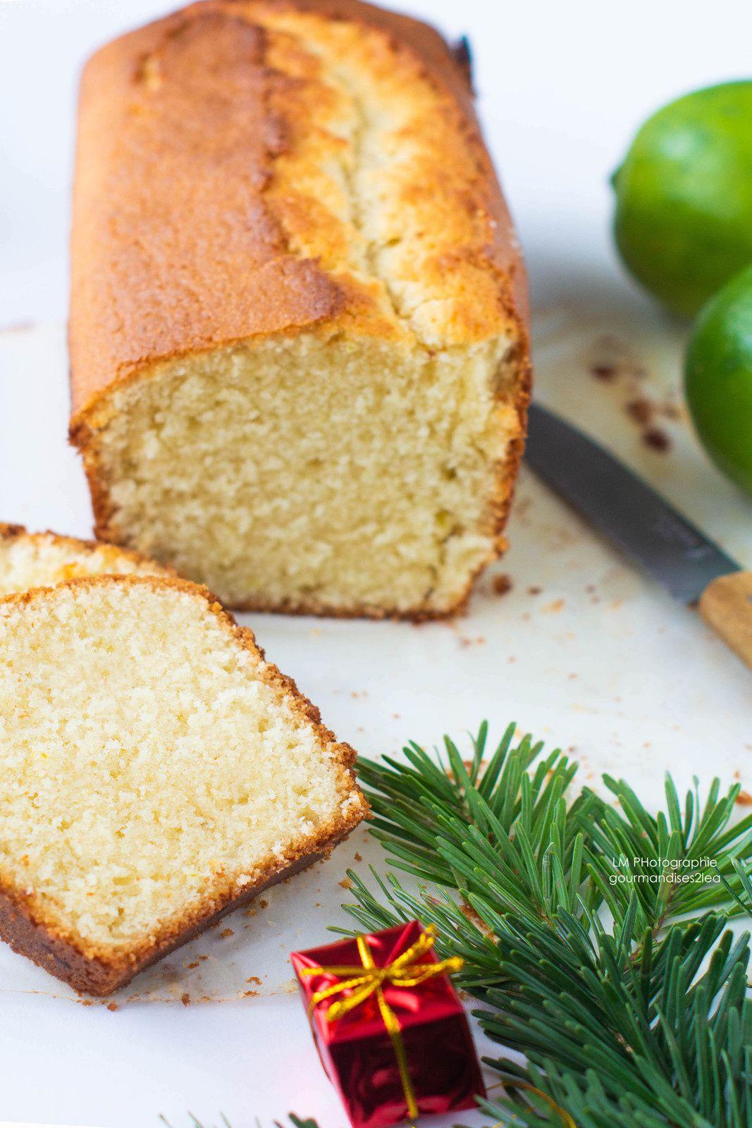 Cake au citron vert et crème fraîche