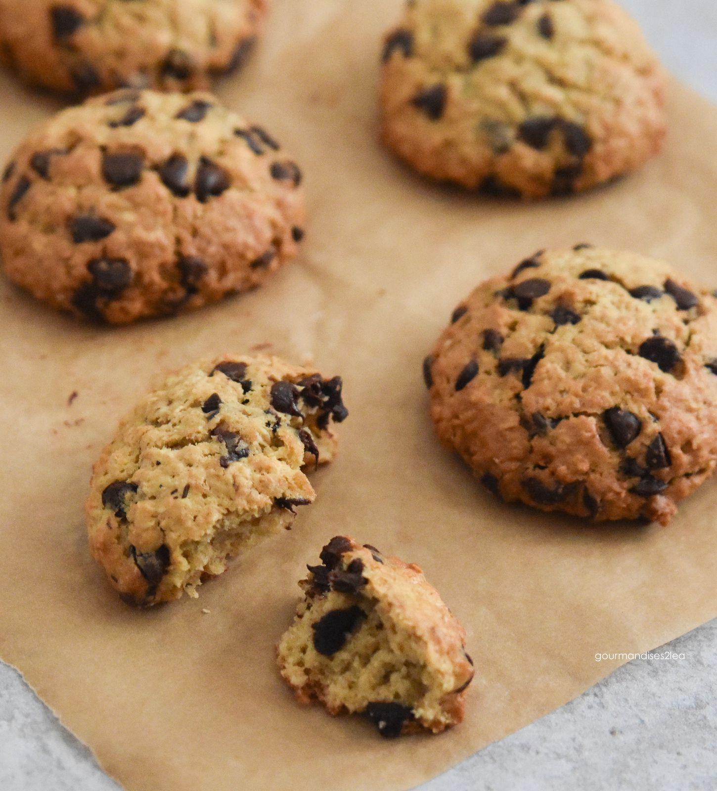 Cookie à l'avoine, sirop d'érable et chocolat