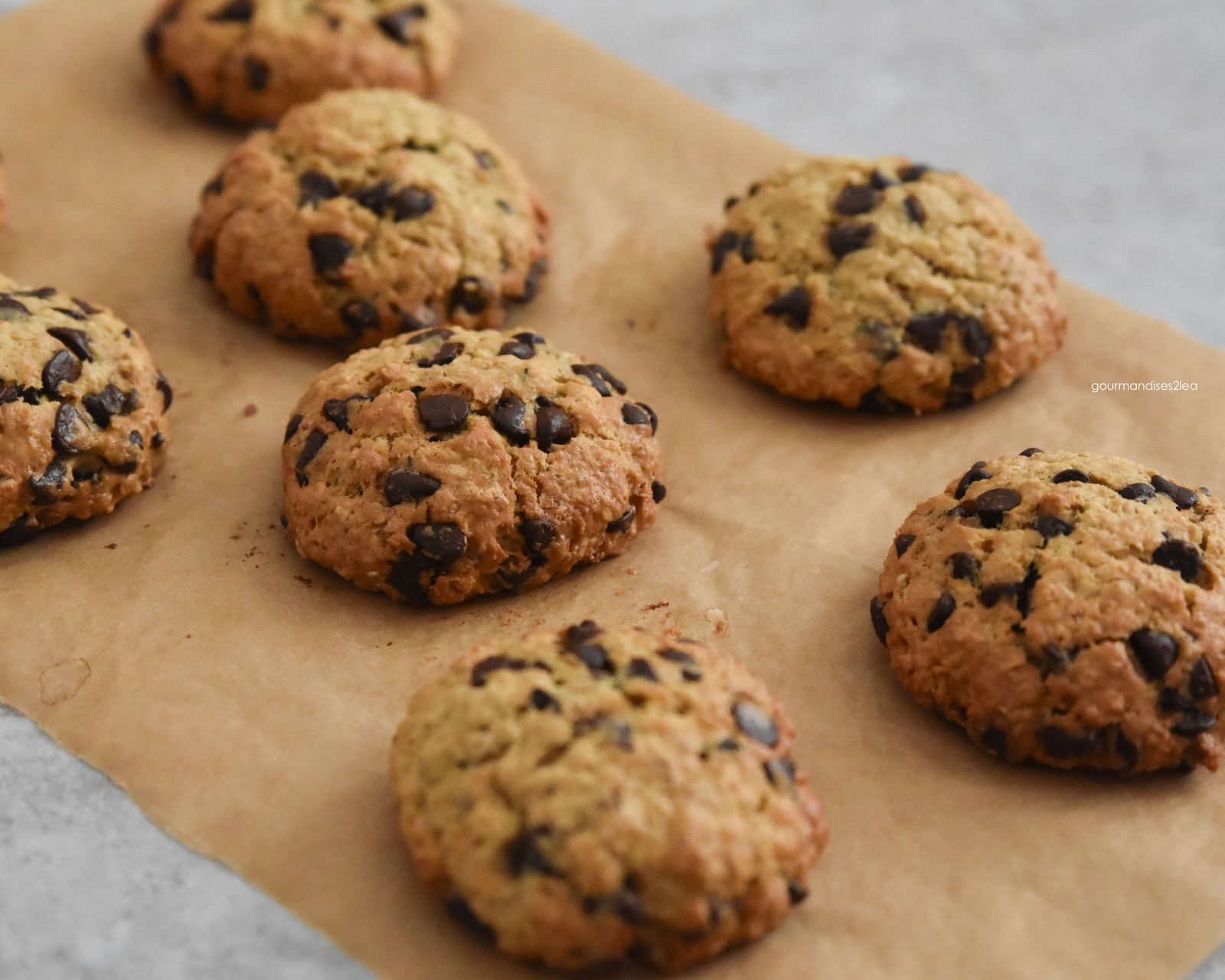 Cookie à l'avoine, sirop d'érable et chocolat