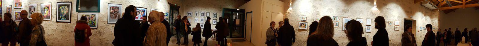 """Exposition """"juste 3"""" à Villefranche : une réussite !...prochaine date du 7 au 14 avril à Port-Sainte-Foy"""