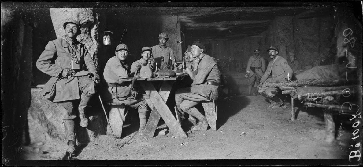 Chemin des Dames, la caverne des Dragons (entre Reims et Soissons) 16.07.1917