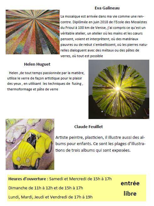 """"""" Toujours 3 """" : 3 Univers, 3 Artistes et 3ème édition !"""