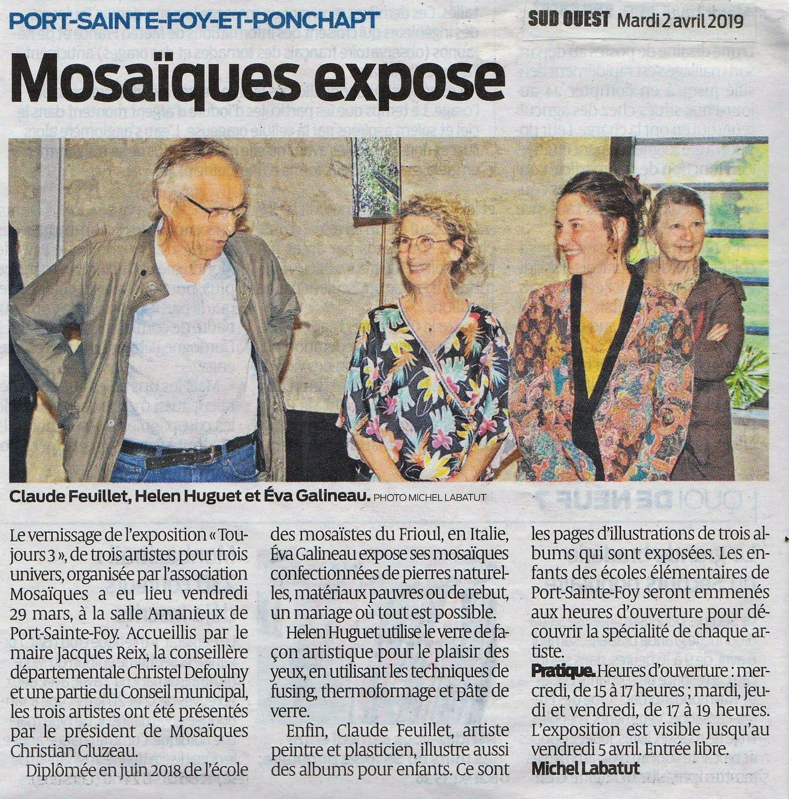 Sud Ouest 2 avril 2019