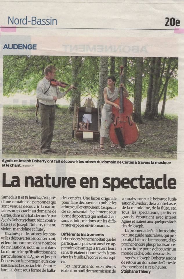 Dimanche 30 Juin Matin, la 13ème édition du Festival Côté Jardin ne s'arrête plus !