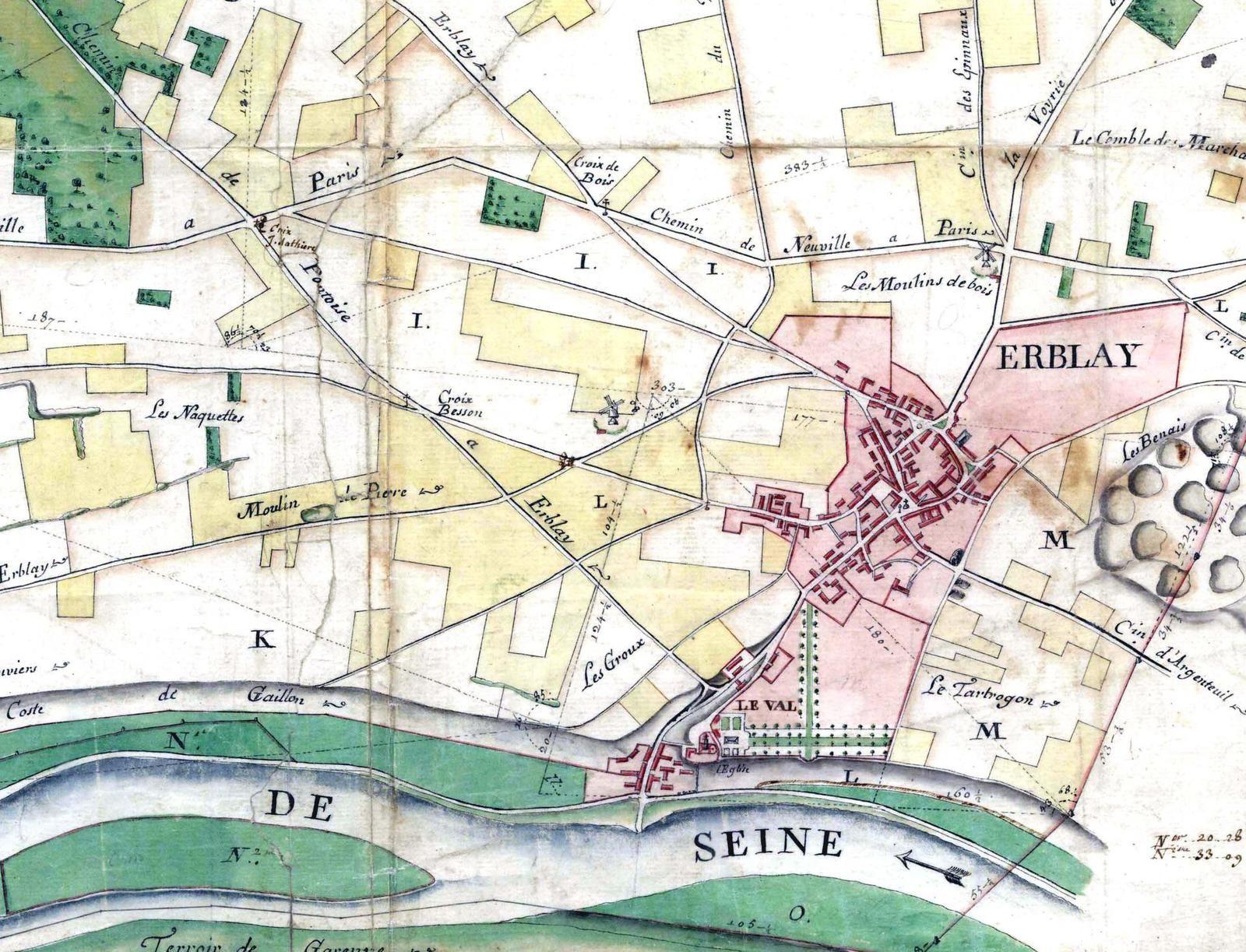Depuis Franconville jusqu'à Herblay, Taverny et retour à travers champs, ville et bois