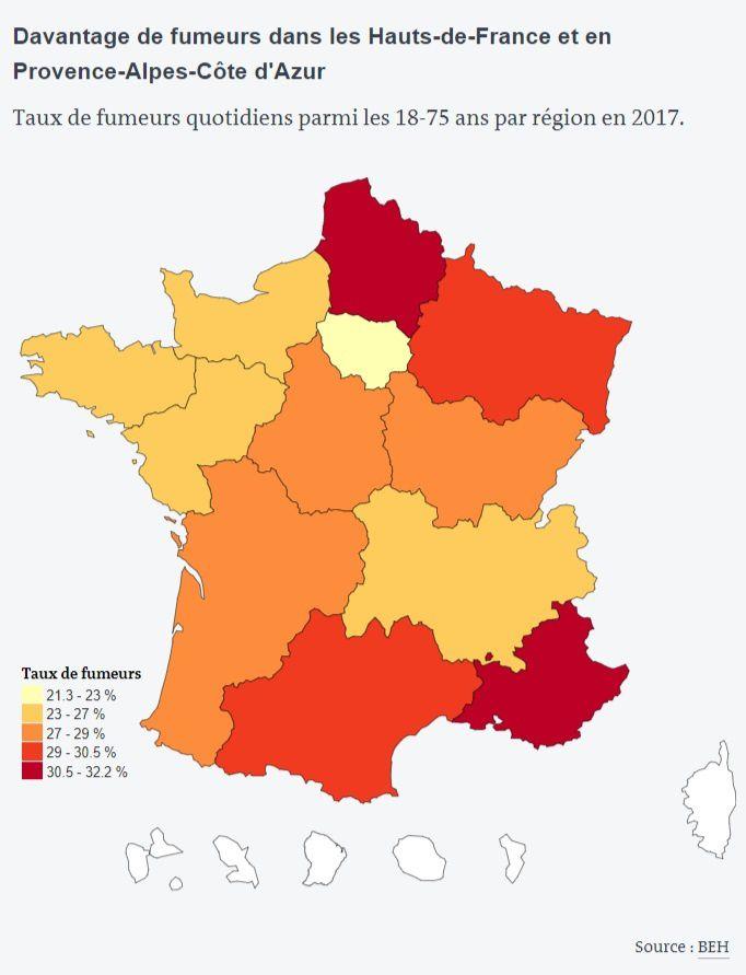 Où fume-t-on le plus en France ?