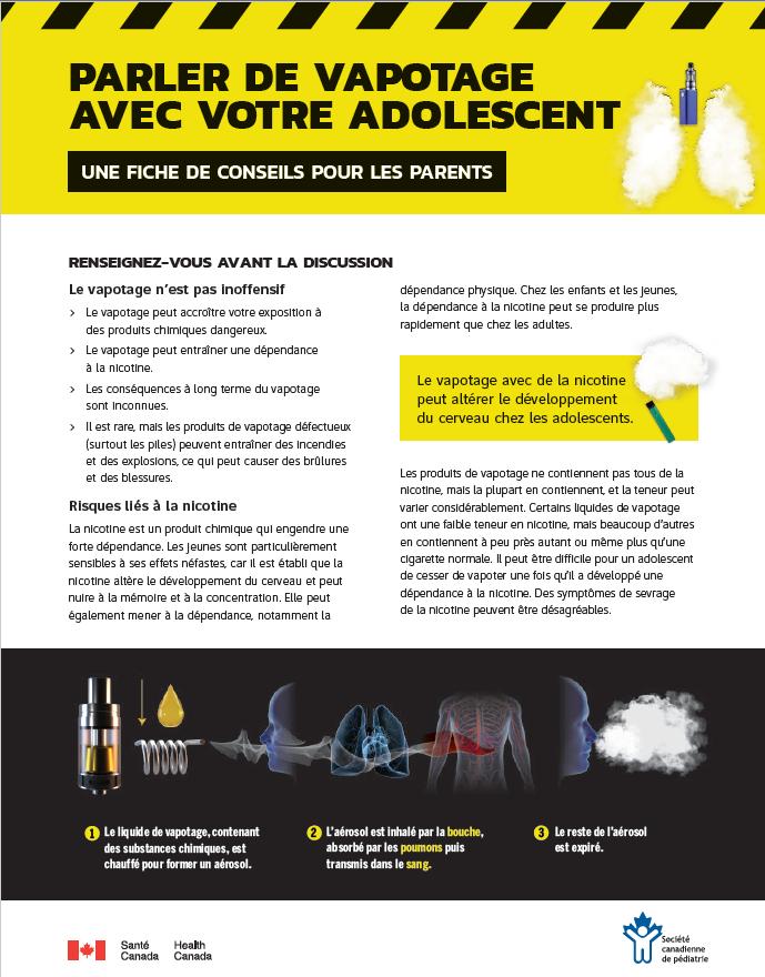 Il faut limiter la publicité pour séparer les jeunes Canadiens de la ecigarette