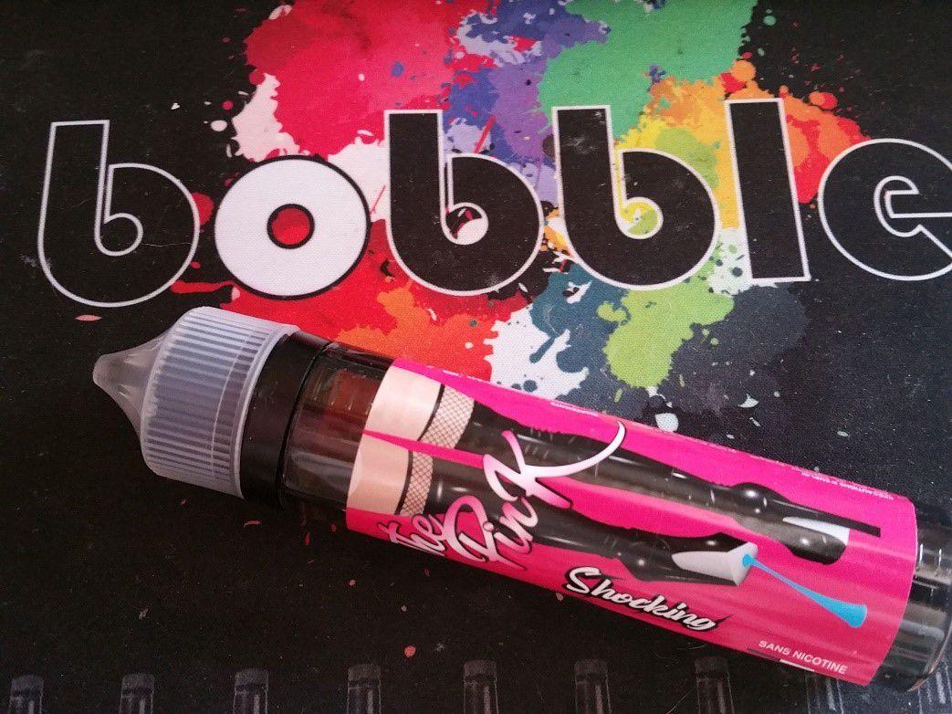 Test - Eliquide - The Pink gamme Shocking de chez Bobble Liquide
