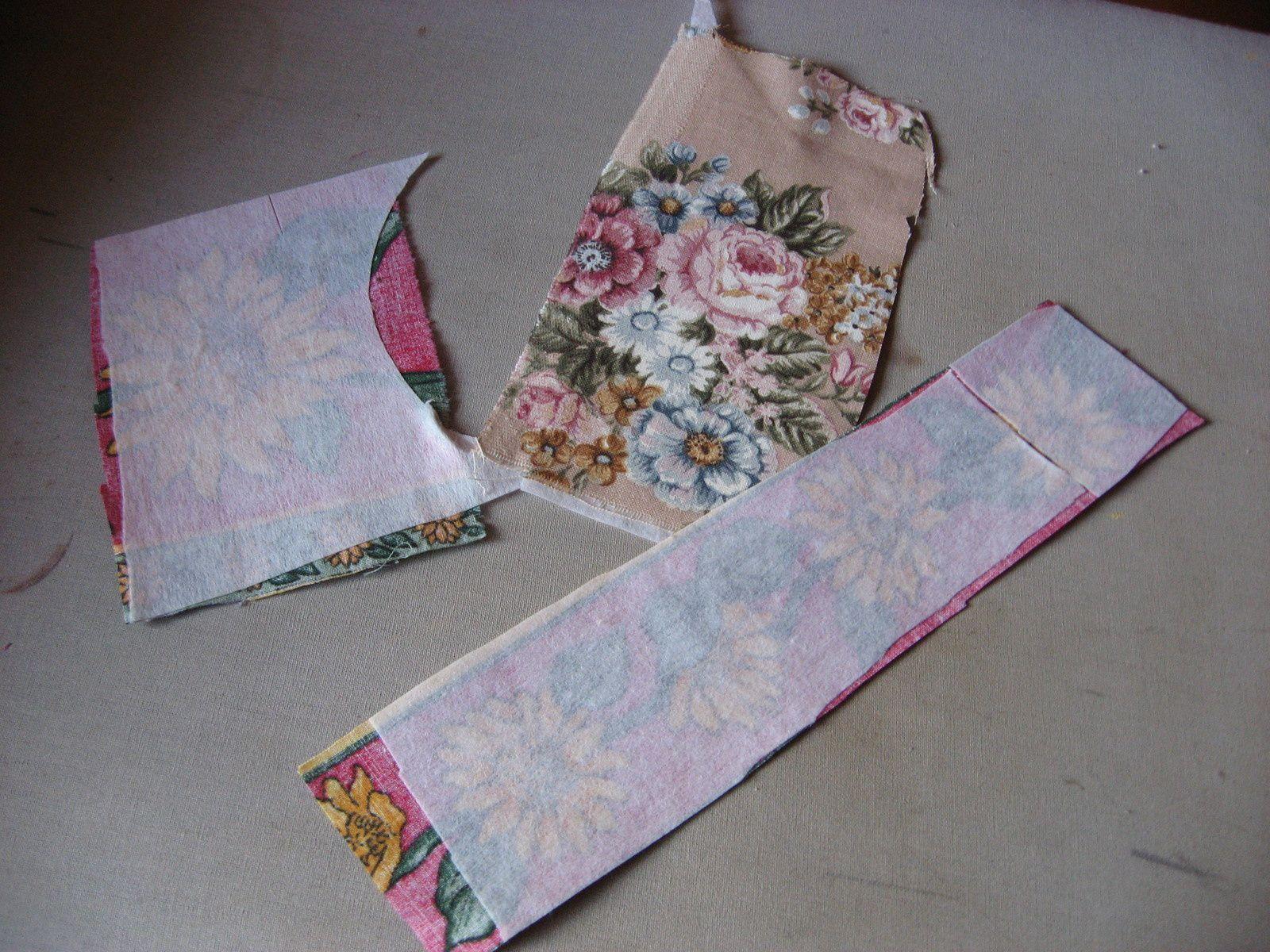 Signets fleuris en tissu