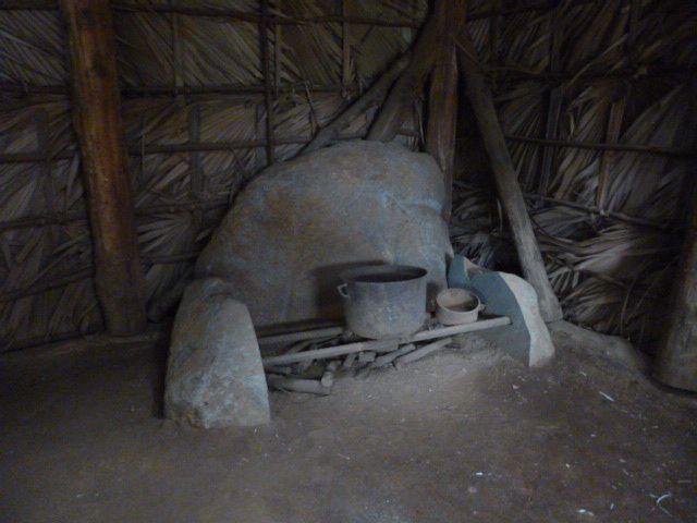 Intérieur d'une case créole au temps de l'esclavage
