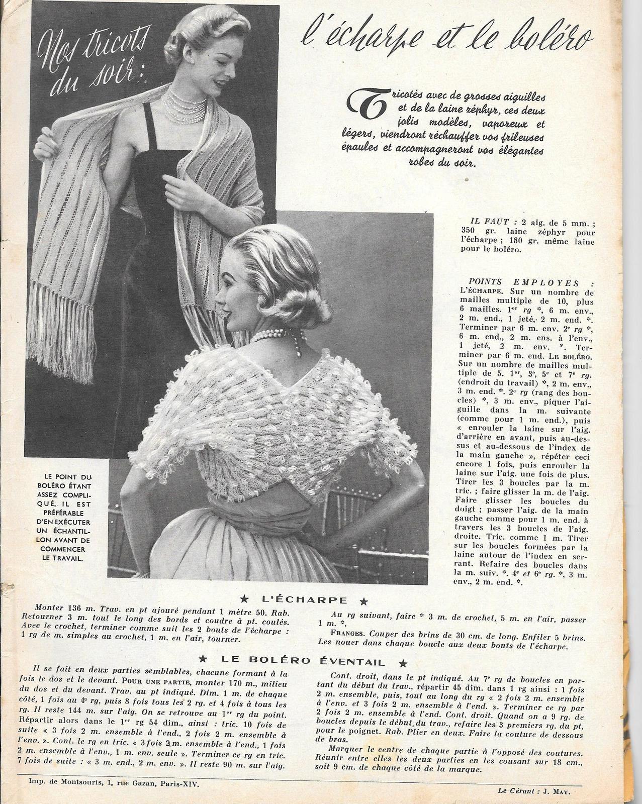 2 tutos de tricot : écharpe et boléro éventail