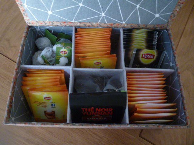 Boites à thé  ou tisanes   ..en cartonnage à faire soi-même 3 modèles