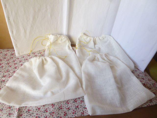 sachets en tissu  pour denrées en vrac