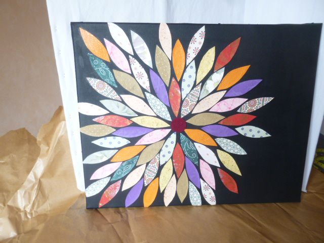 Home déco : tableau fleur en papier