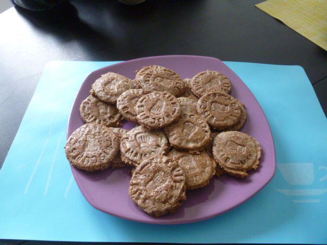 Biscuits au chocolat en poudre