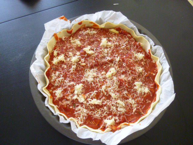 Ma tarte au thon comté et tomates
