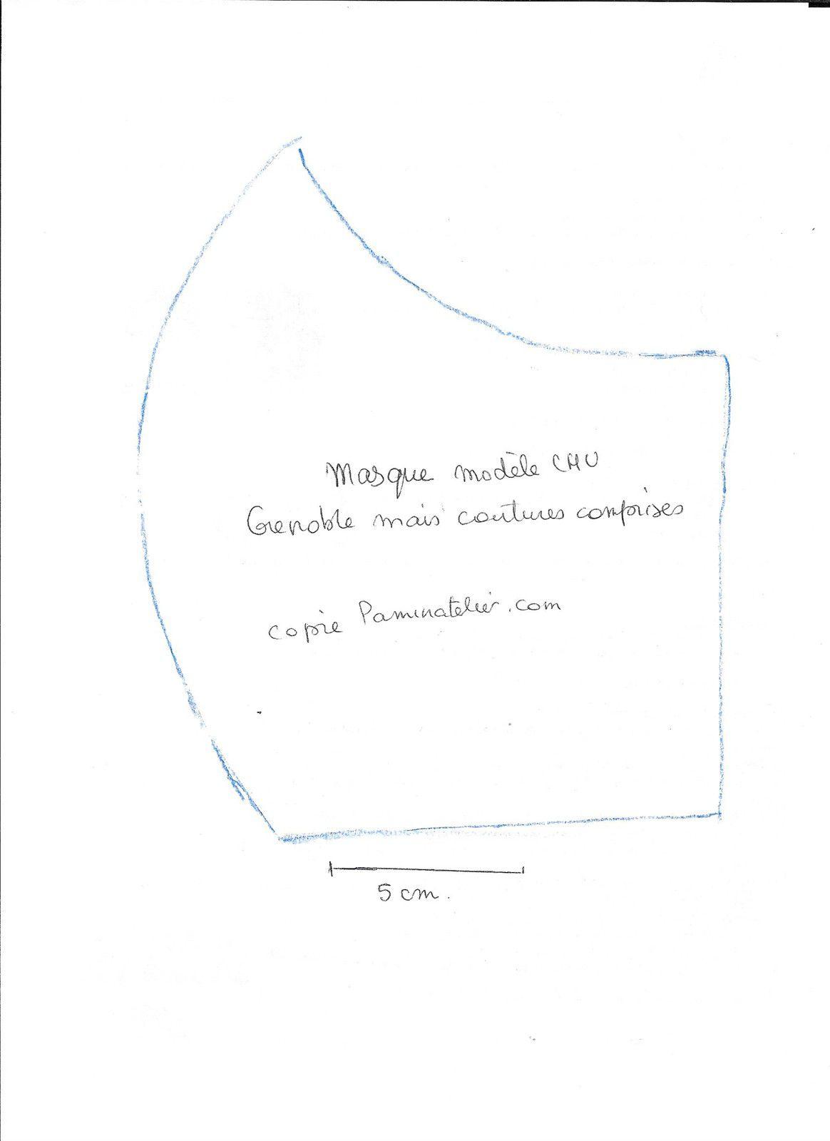 Masque de protection en tissu  covid-19