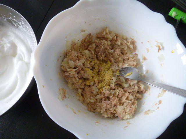 Gâteau de thon sauce à l'oseille