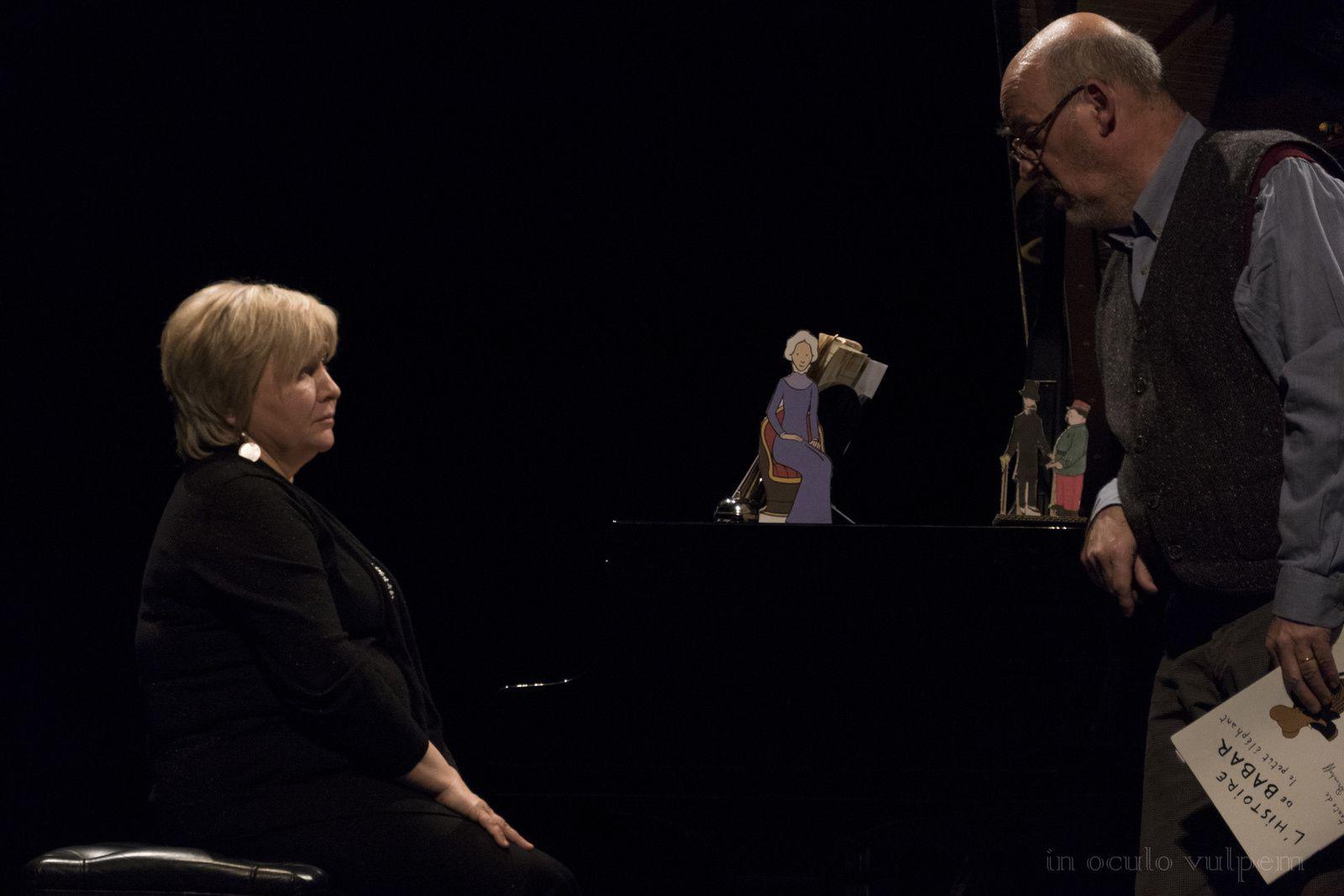 Mozart, Ravel, Poulenc et ... Babar. Marie-Pascale Talbot-Hitier, Emmanuel Pleintel. Théâtre de Lisieux, 16/02/2018
