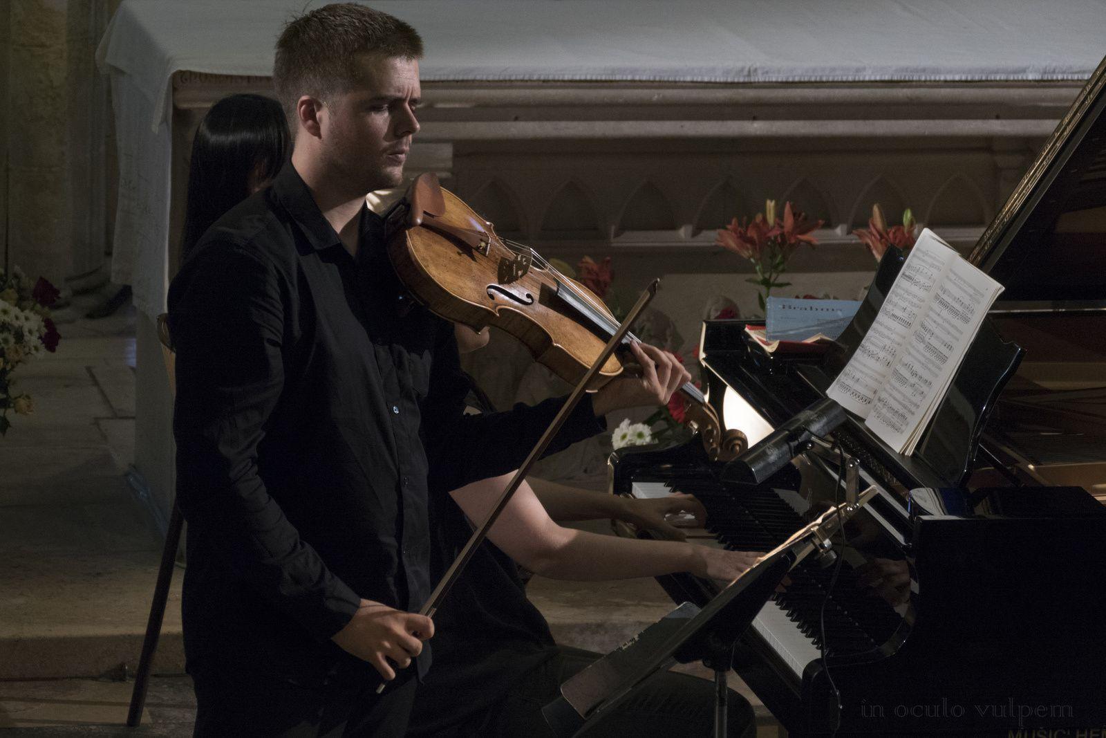 Les Promenades musicales du Pays d'Auge. Natacha Kudritskaya, piano; Pierre Génisson, clarinette; Adrien Boisseau, alto. Eglise Notre Dame, 29/07/2018, Dozulé.