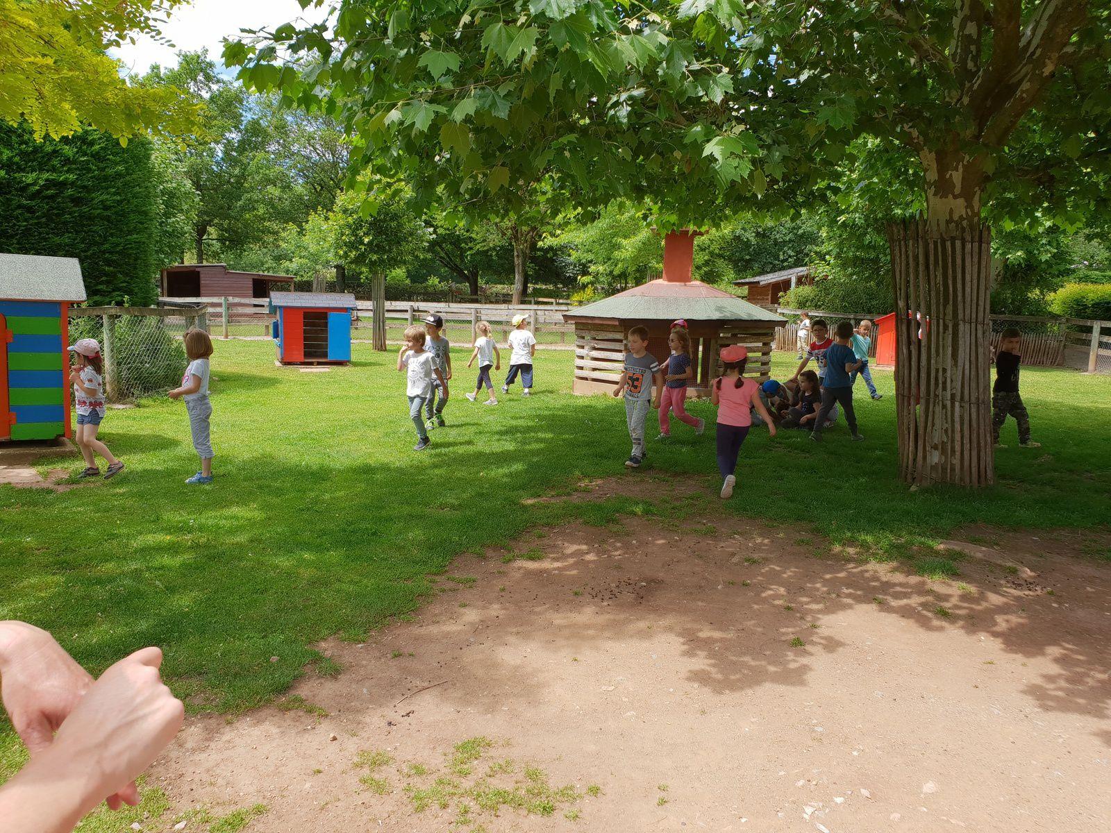 Sortie de fin d'année à Gages pour les 3 classes de maternelle et l'IME