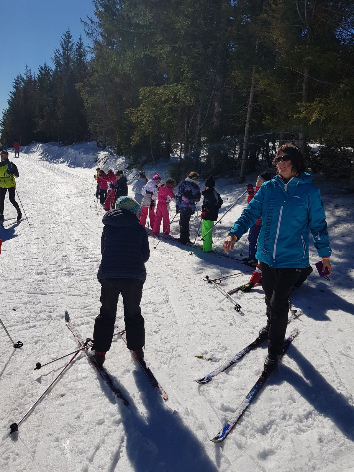 Deuxième sortie de ski au Col de Bonnecombe