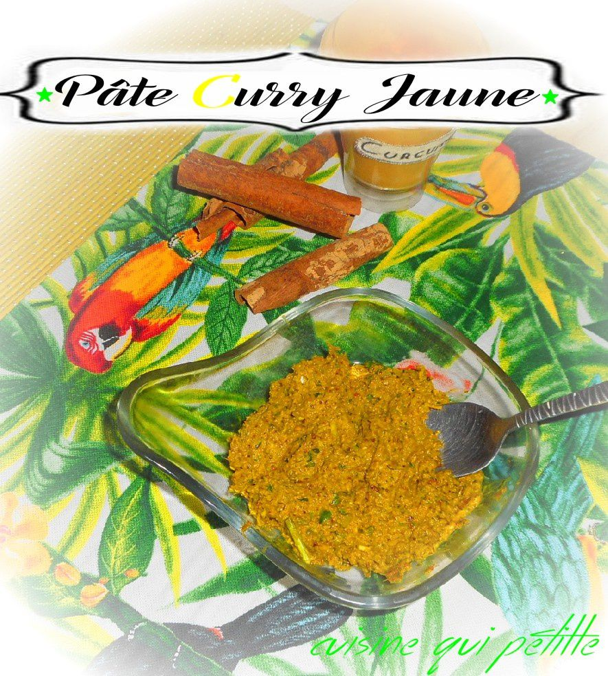 Pate curry jaune maison