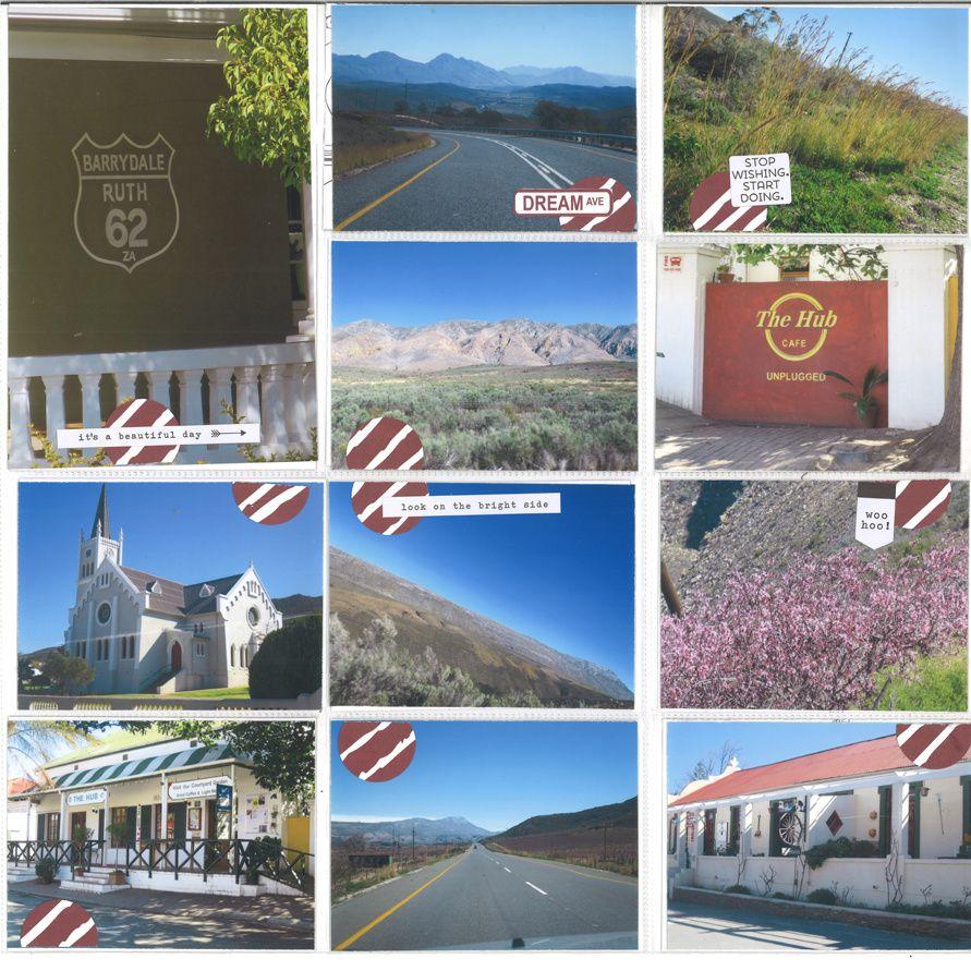 """4 albums style """"Project Life"""" sur mes vacances en Afrique du Sud en août 2018"""