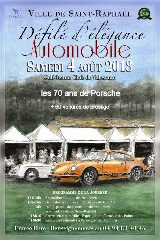 Défilé international voiture ancienne St Raphaël 2018