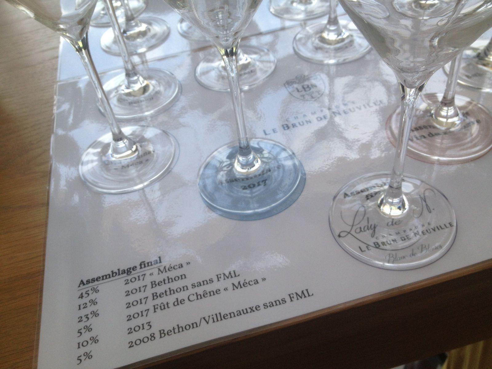 Chez Le Brun de Neuville, petites lampées des vins clairs de la Lady de N, mais pas que ...