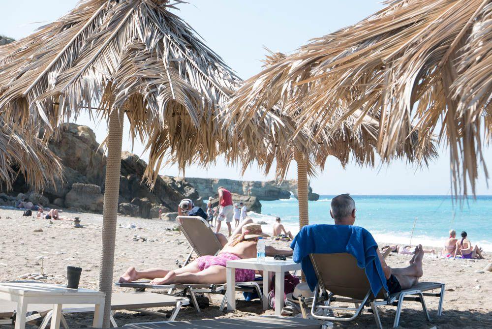 CRETE : RETHYMNON Le port et la plage
