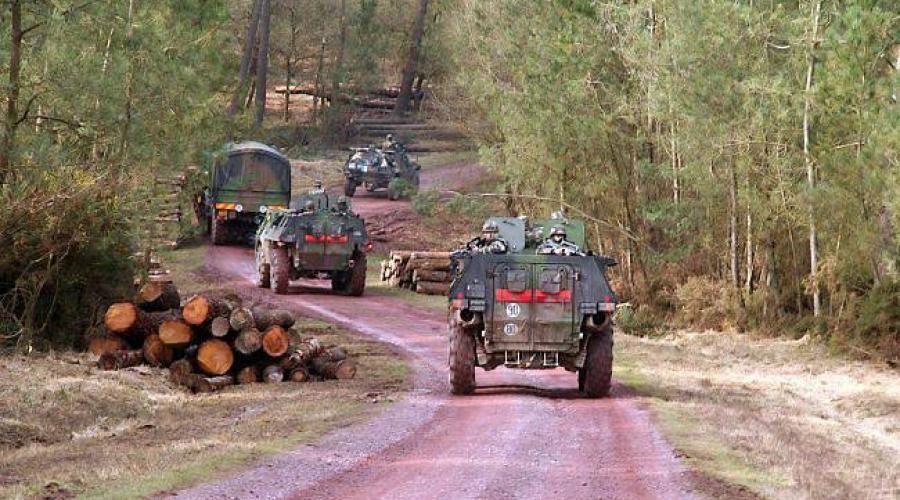 Section du 2e régiment du matériel.