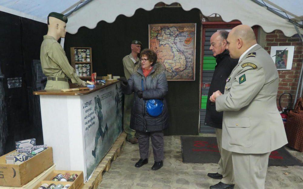 La crèche 2016 de la Légion étrangère à Fontenay-sous-Bois fait référence à la guerre d'Indochine (copyright Le Parisien).