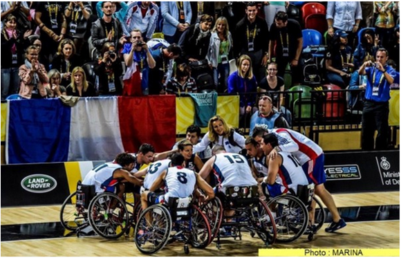 Invictus Games 2016 – L'équipe de France de basket-ball en fauteuil roulant. Copyright : Site « Forces Operations Blog ».