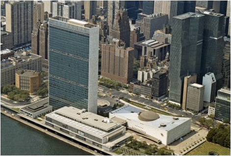Le siège des Nations Unies à New York.