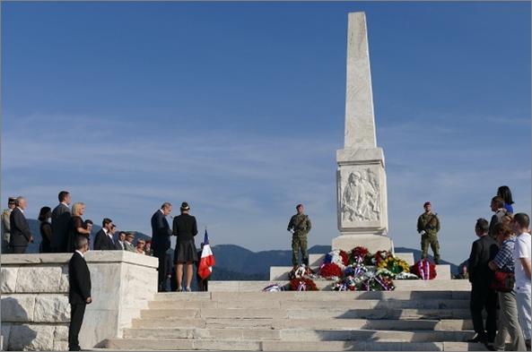 Sur la colline de Zvonica près de Strecno, en Slovaquie, se dresse un monument du souvenir en forme d'obélisque dédié aux partisans Français morts aux combats lors du Soulèvement national slovaque (fin août 1944) : 24 partisans sont enterrés dans les cryptes sous le monument.