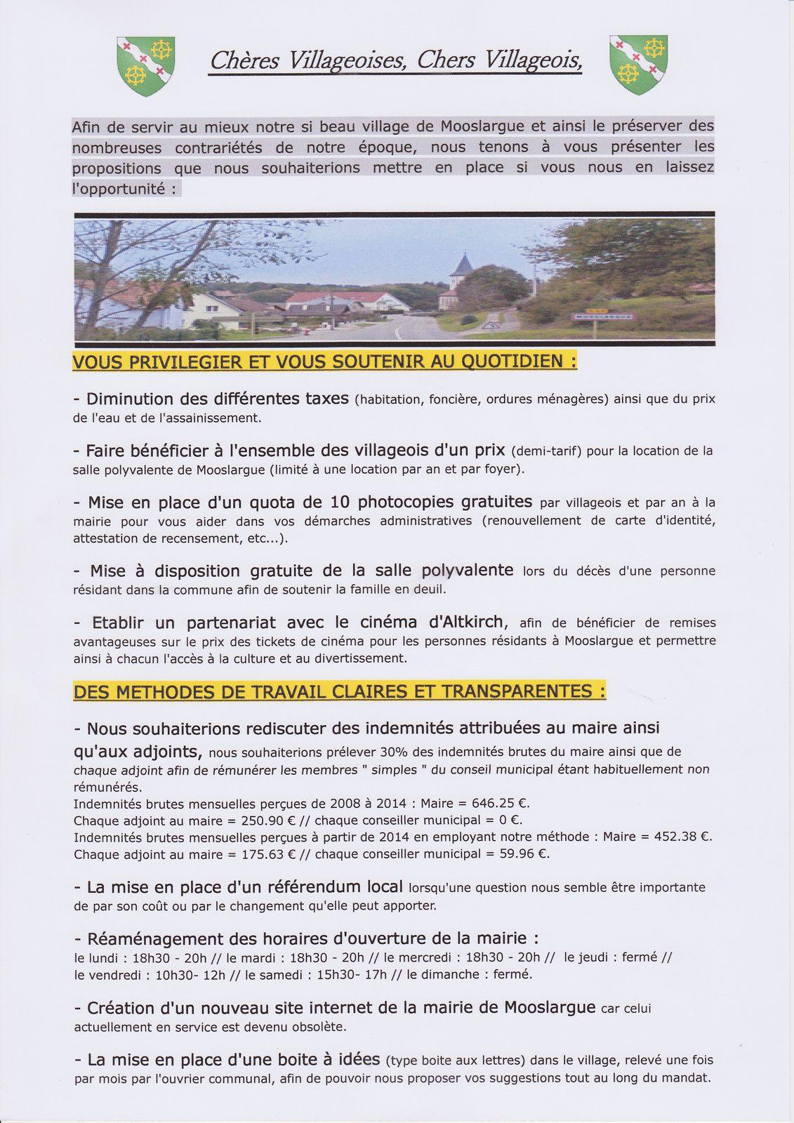 Le 3ème tract (élections municipales Mooslargue 2014)