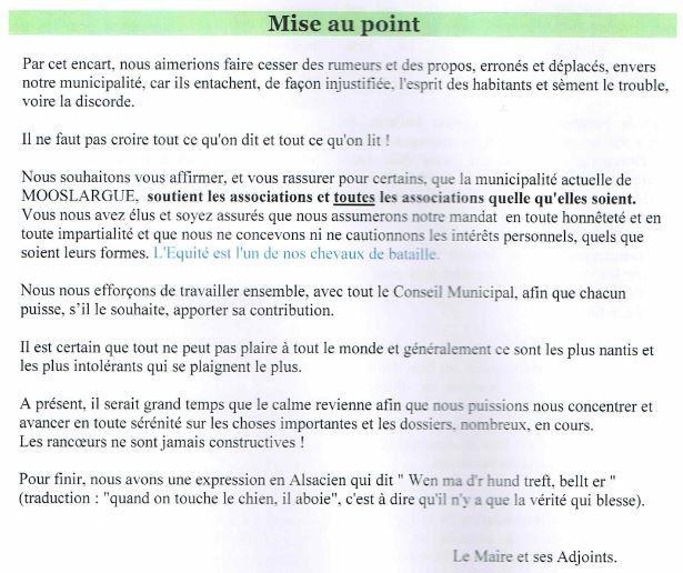 "Lorgnette n°28, ""Mise au point"""