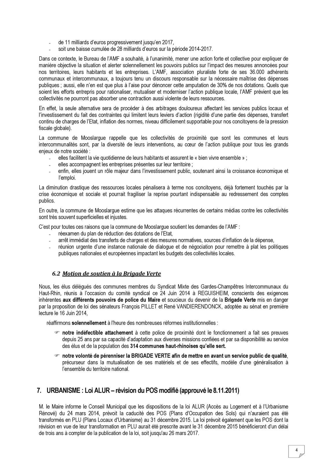 Conseil municipal du 26 août 2014