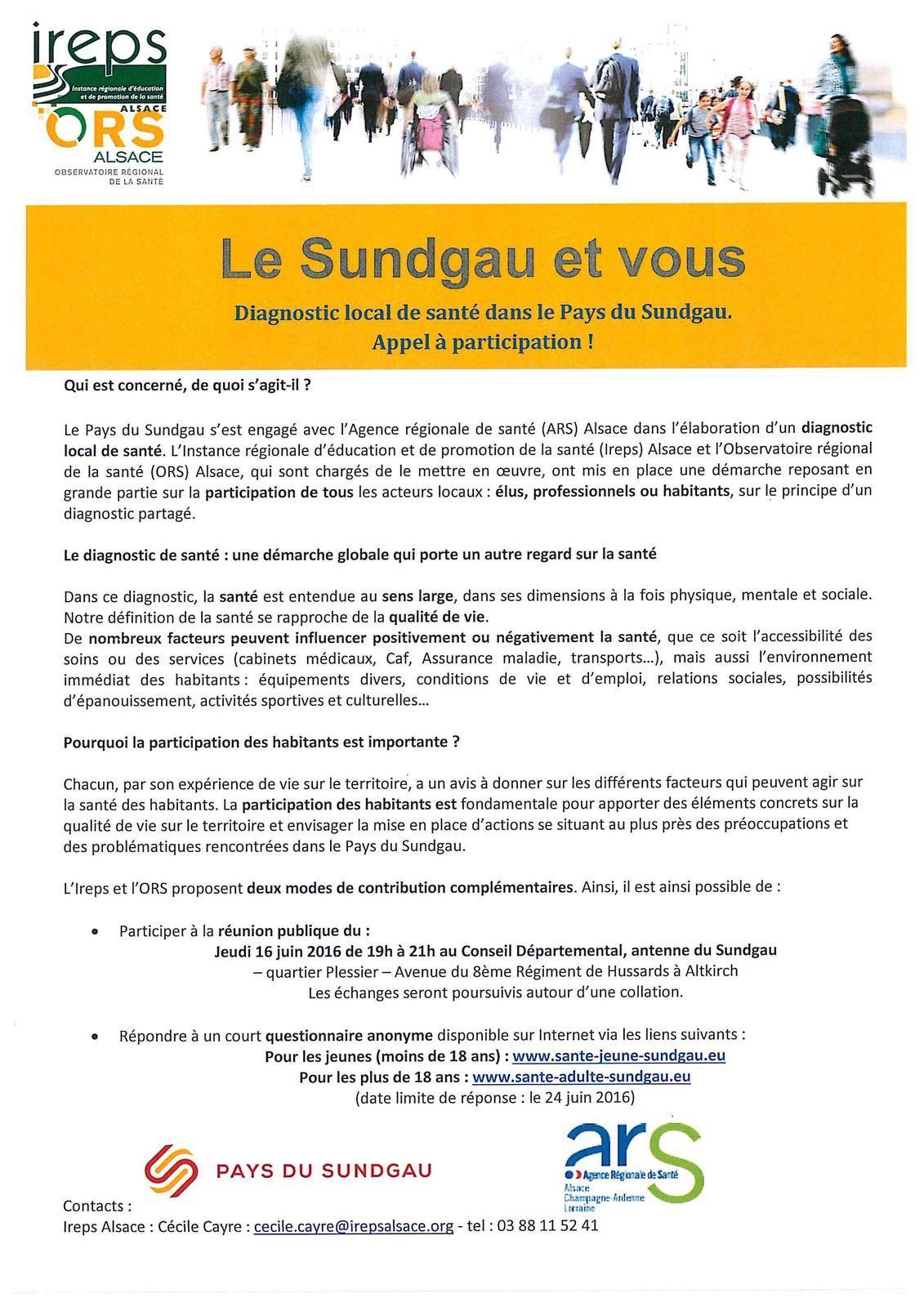 Donnez votre avis: diagnostic local de santé dans le Sundgau