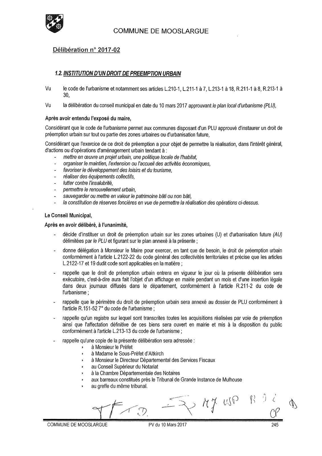 Conseil Municipal du 10 mars 2017
