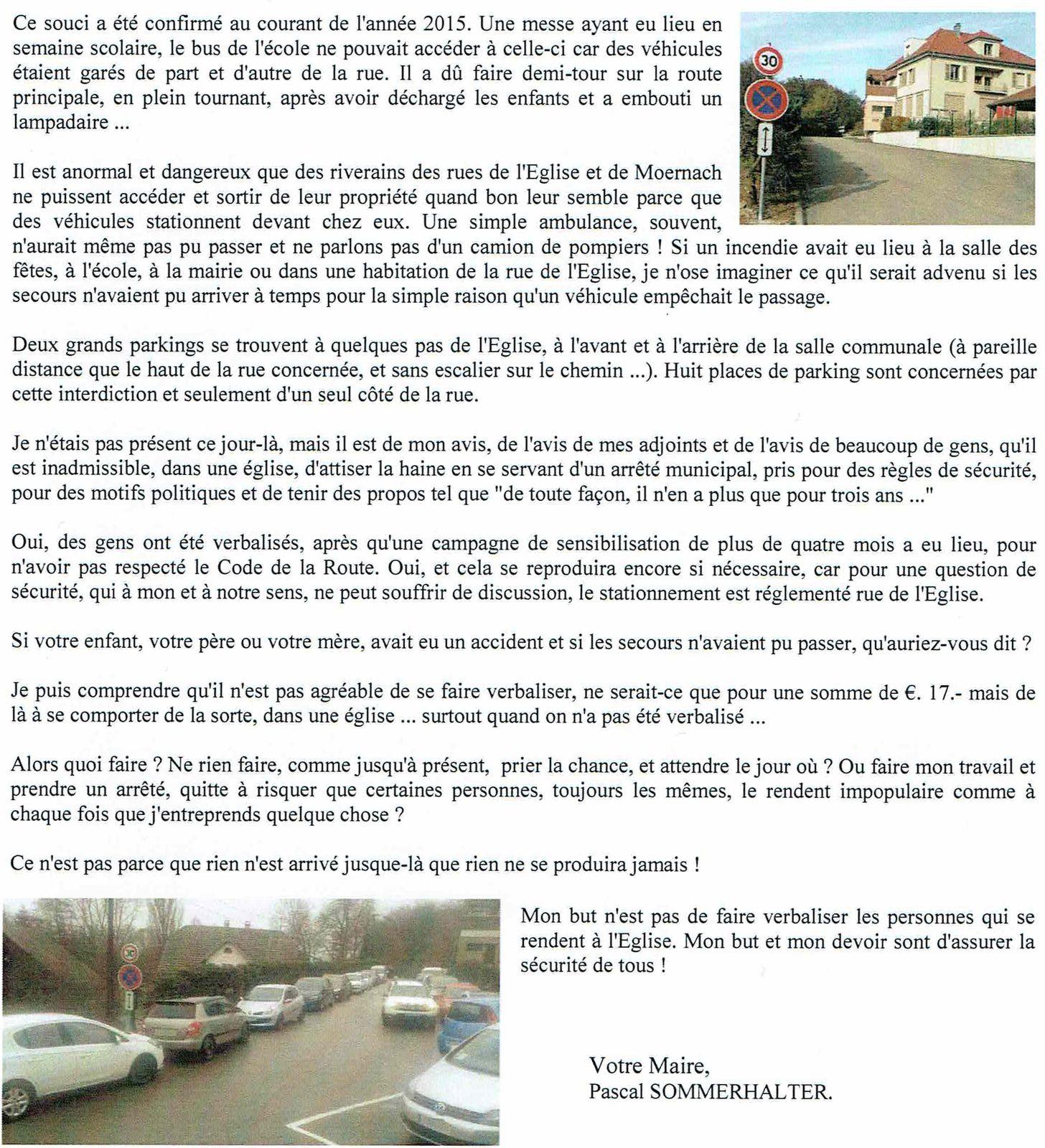 Communication du maire de Mooslargue (article publié dans la Lorgnette de Mooslargue N°32)