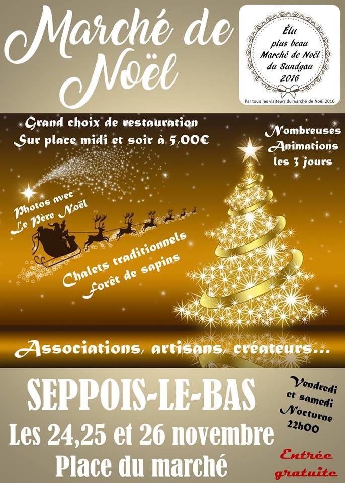 Marché de Noël à Seppois-le-bas les 24, 25 et 26 novembre