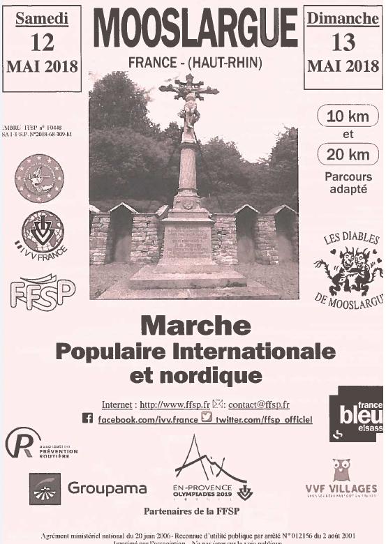 Marche populaire les 12 et 13 mai à Mooslargue