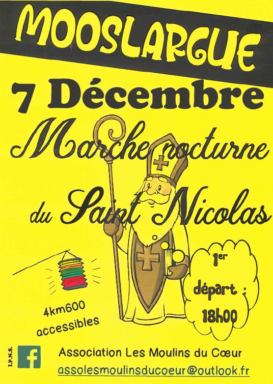 Marche nocturne à Mooslargue vendredi 7 décembre
