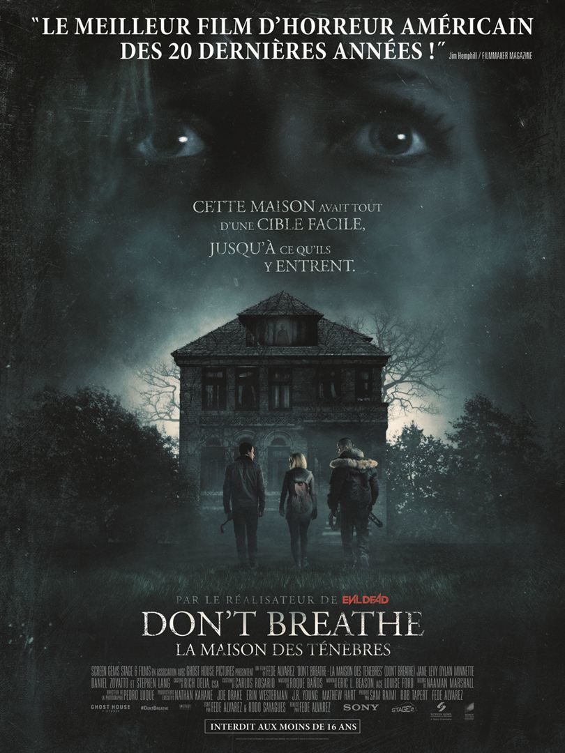 [critique] Don't Breathe - la Maison des ténèbres