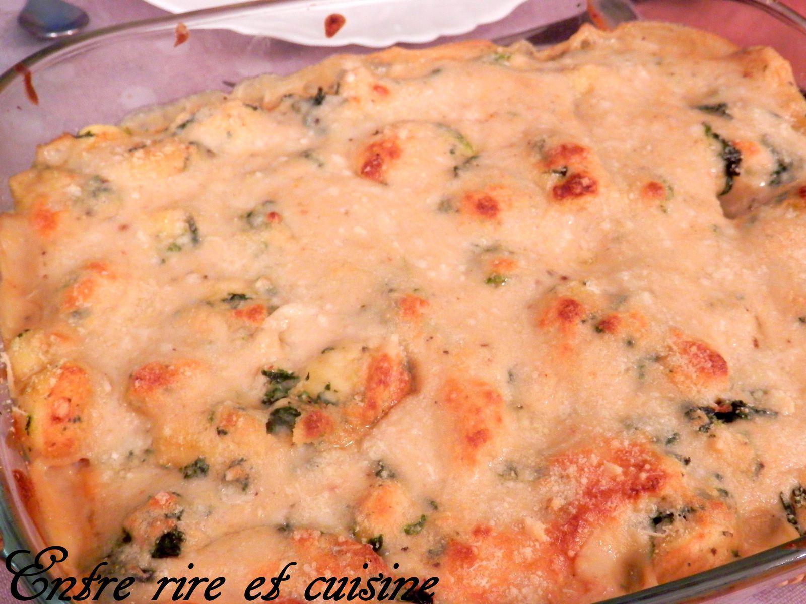 Gratin de gnocchis aux épinards et parmesan