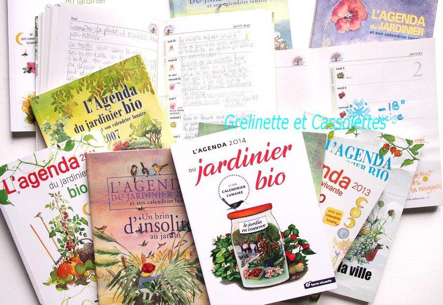 L'Agenda du Jardinier bio : mon carnet de bord depuis des années !