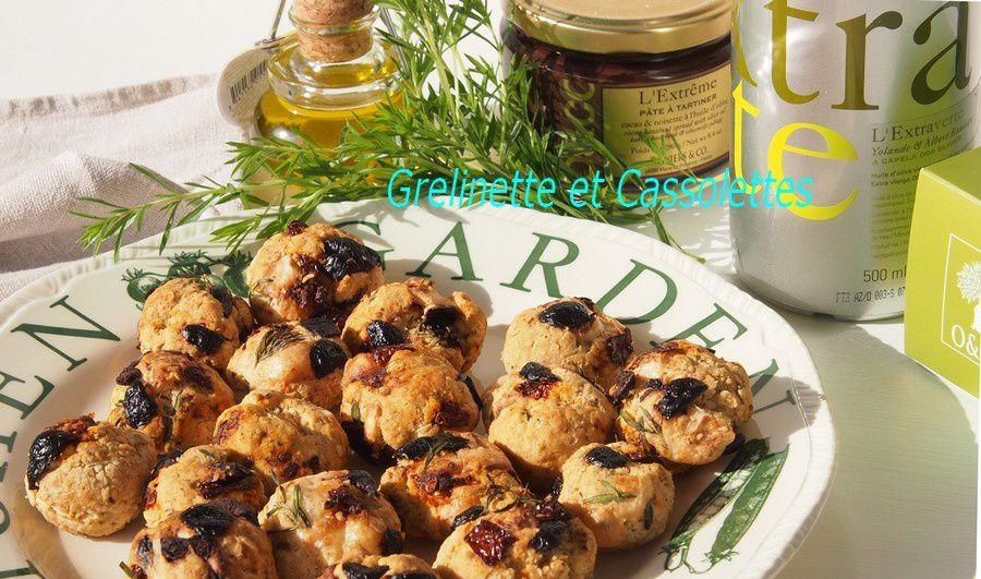 Cookies aux Olives Kalamanta, Tomates séchées et Chèvre