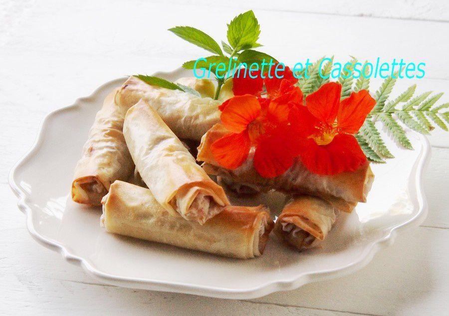 Rouleaux de Pâte Filo aux Légumes, Recette Végétarienne